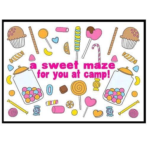 Candy Maze Camp Card