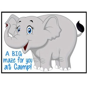 Elephant Maze Camp Card