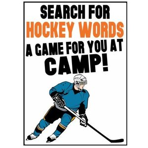 Hockey Word Search Camp Card
