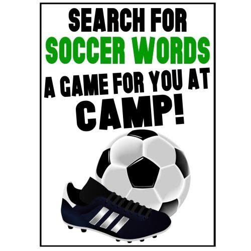Soccer Word Search Camp Card