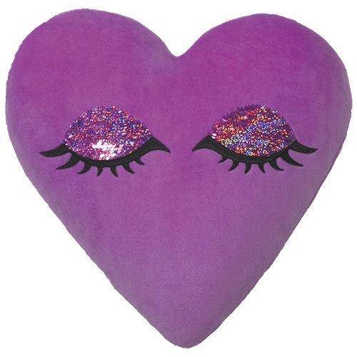 Sleeping Heart Reversible Sequin Pillow