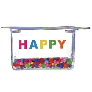 Happy Pom Poms Cosmetic Bag