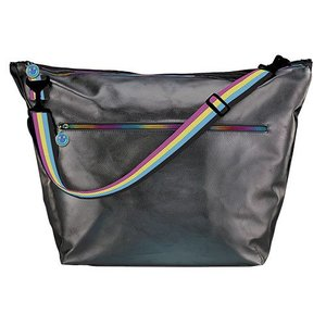 Black Metallic Weekender Bag