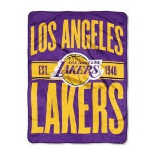 LA Lakers Fuzzy Throw Blanket