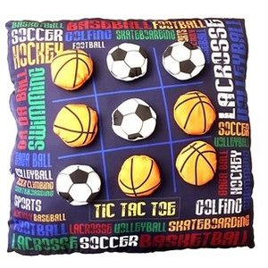 Sports Graffiti Tic Tac Toe Pillow