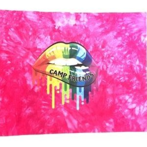 Camp Friends Lips Autograph Pillow Case
