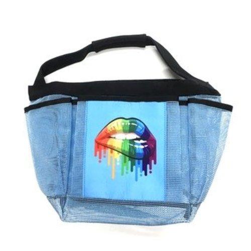 Rainbow Lips Shower Caddy