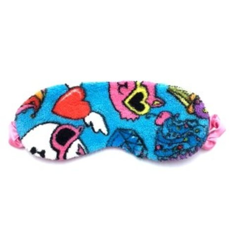 Crazy Cats Fuzzy Eye Mask