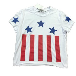White Stars and Stripes Tee