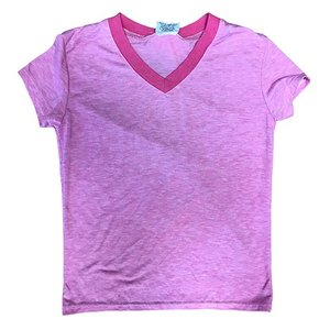 Heather Pink Firehouse V-Neck T-Shirt