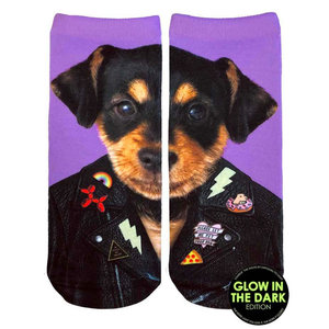 Punk Dog Glow Ankle Socks