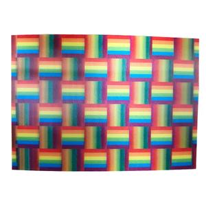 Rainbow Squares 3-D Postcard