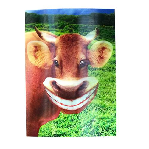 Smiling Cow 3-D Postcard