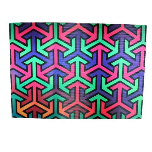 Colorful Arrows 3-D Postcard