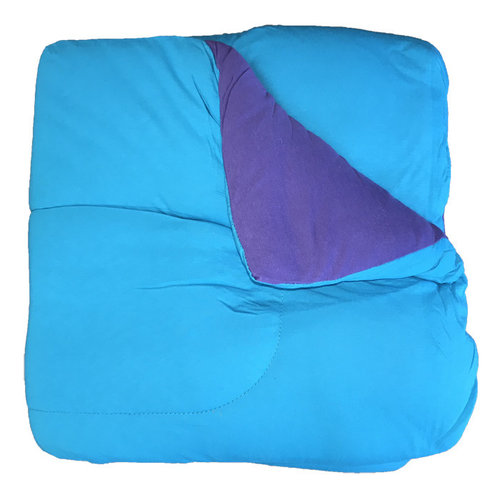 Reversible Turquoise/Purple Jersey Comforter