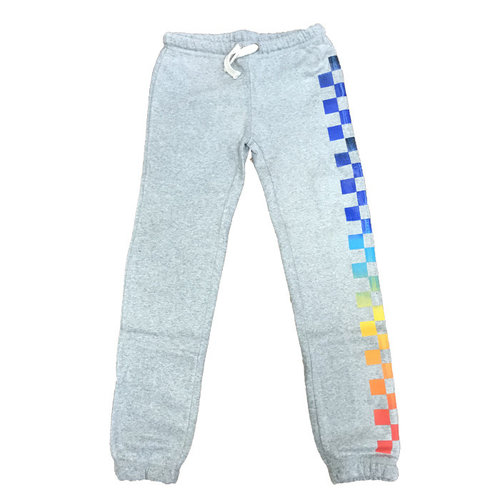 Rainbow Striped Burnout Sweats
