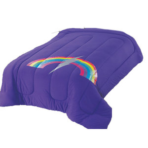 Purple Rainbow Bolt Comforter