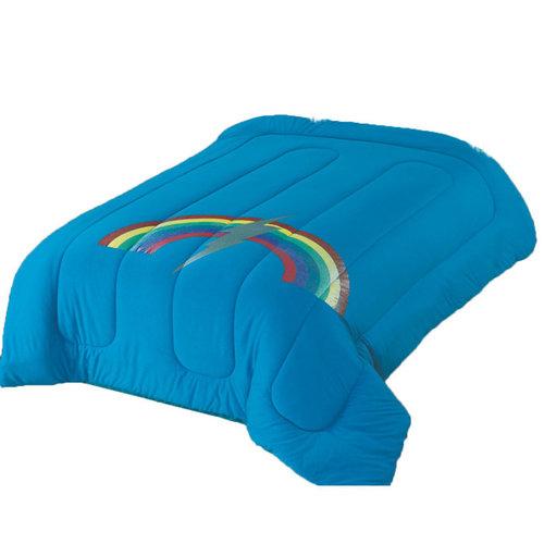 Turquoise Rainbow Bolt Comforter