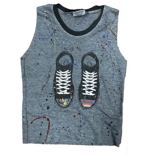Splattered Sneakers Tank