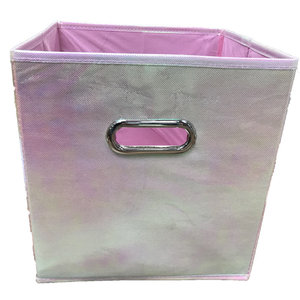 Metallic Pop-Up Storage Cube (10.5 x 10.5 x 11)
