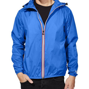 Royal Blue Packable Rain Jacket