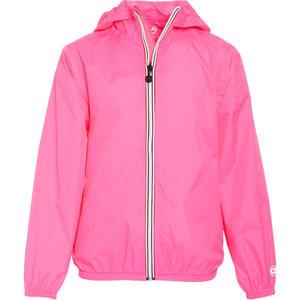 Neon Pink Packable Rain Jacket