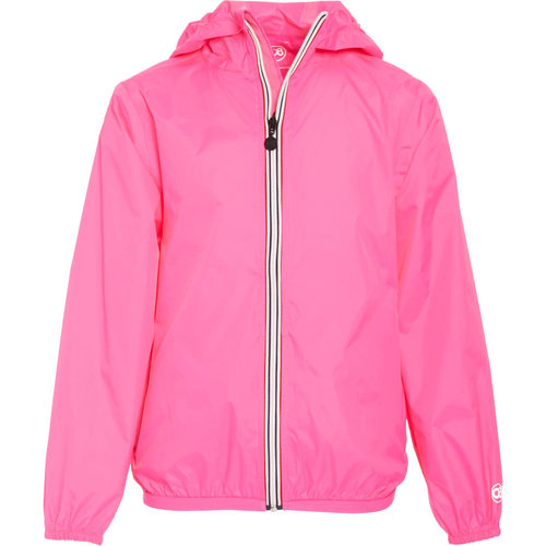 Neon Pink Packable Rain Jacket