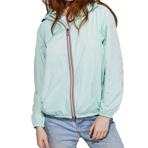 Mint Green Packable Rain Jacket