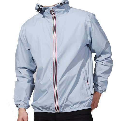 Sky Blue Packable Rain Jacket