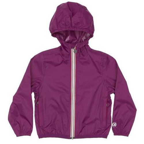 Purple Packable Rain Jacket