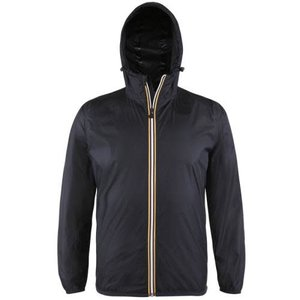 Black Packable Rain Jacket