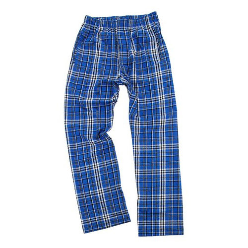 Royal and Black Flannel Pants