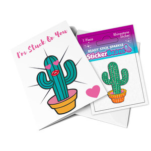 Cactus StickerBean Card
