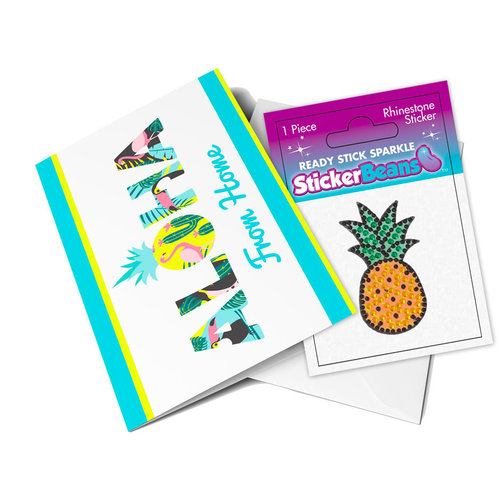 Pineapple StickerBean Card