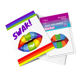 SWAK StickerBean Card