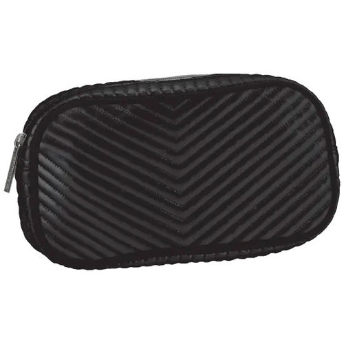 Black Chevron Small Cosmetic Bag