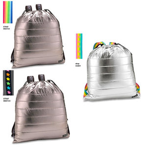 Metallic Puffer Sling Backpack