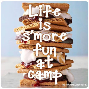 S'more Fun at Camp Sticker Quote