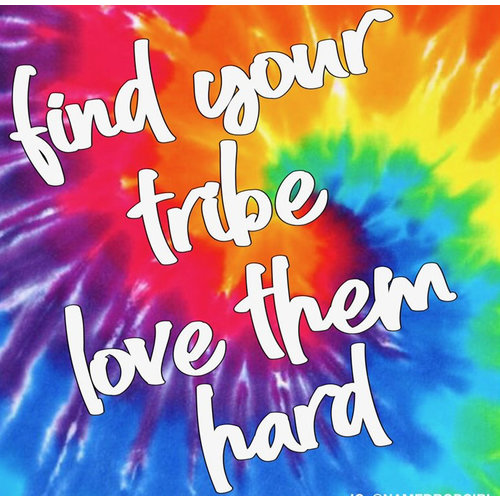 Find your Tribe Love Them Hard Sticker Quote