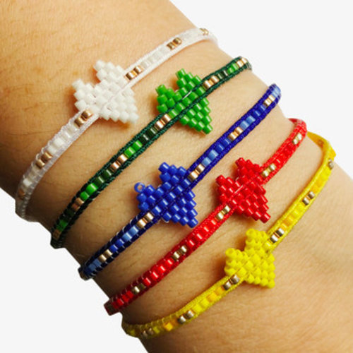 Camp Heart Beaded Bracelet