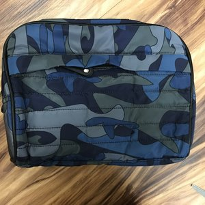Blue Camo Quilted Dopp Kit