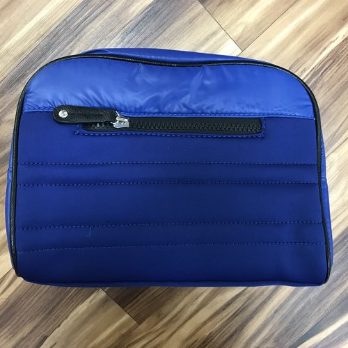 Blue Neoprene Quilted Toiletry Bag