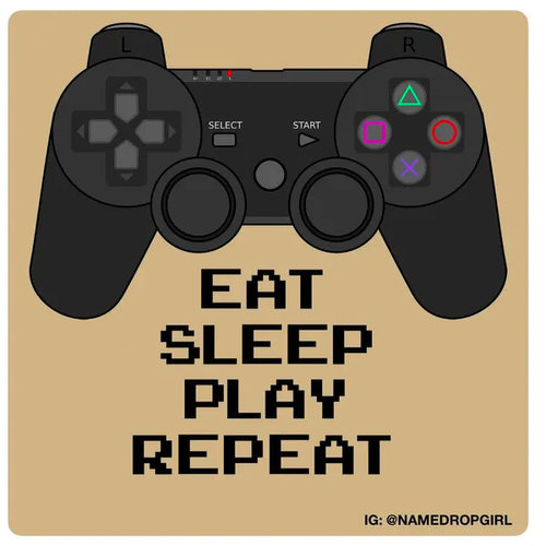 Eat Sleep Play Repeat Sticker Quote