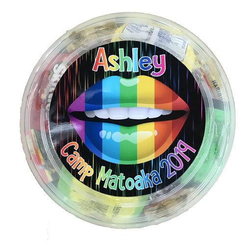 Rainbow Lips Candy Frisbee