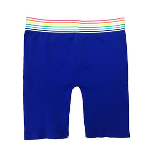 Bike Shorts with Rainbow Stripe Top