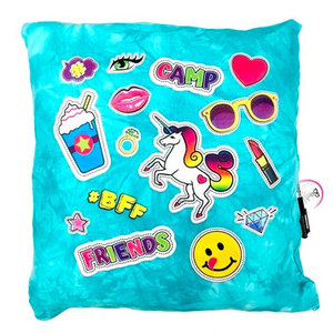 Camp Friends Patches Autograph Pillow