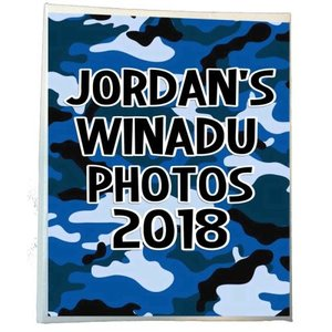 Blue Camo Photo Album