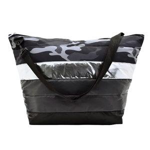 Black Camo Puffer Bag
