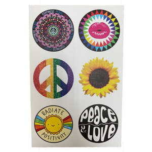 Peace, Love, Positivity Cling-Its