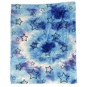 Blue Tie Dye Star Blanket
